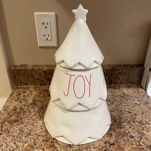 Rae Dunn White Joy Tree Canister